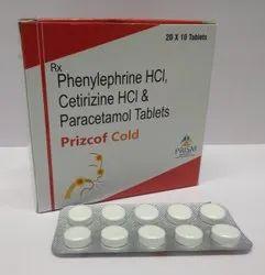 Cetirizine Hydrochlloride, Paracetamol Phenylephrine Hydrochloride Tablets