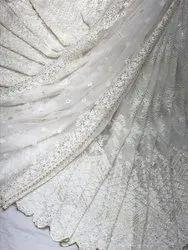 Long Width Georgette With Net Dupatta - Dyable