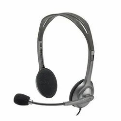 Wired Black Logitech h111 stereo headset, Model Name/Number: 981-000588