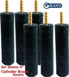 Grand 4 Inch 100 Mm Cylinder Air Stone With Brass Nozzle For Biofloc Tank Pond Aeration Aquarium