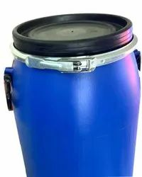 Blue Hdpe Open Top Plastic Storage Drums With Metal Clamp, Capacity: 50 - 60 Ltrs