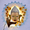 Buddha Wall Decor Led Wall Decor Buddha Led Decor Home Decorative Item Home Decor Gifting Item