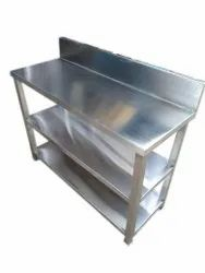 Chrome Finish Stainless Steel Working Table, For Restaurant, Size: 48*24 Inches (w*d)