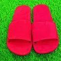 Rubber Men Red Flip Flops Slipper, Size: 9