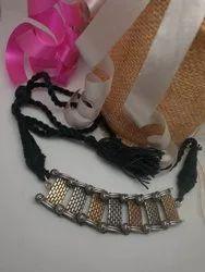 Dual Tone Choker Necklace