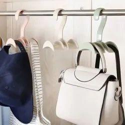 Plastic Assorted Rotating Storage Rack Bag Hanger, Size: 9.5 X 7 X 12.5