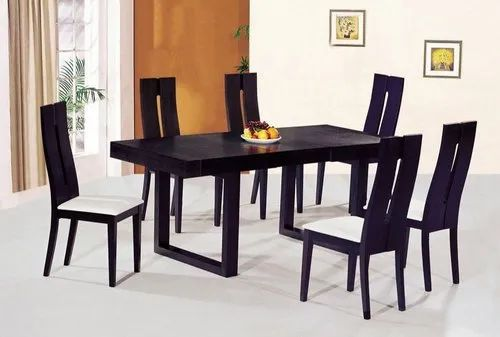 6 Seater Black Dining Table Set, Black Dining Table Chairs Set Of 6