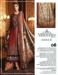 Pakistani Unstitch Maria B Embroidered Winter Collection