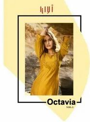 Kalaroop Octavia Vol 5 Linen Silk With Fancy Handwork Kurti Catalog