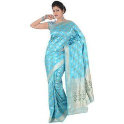 Black Party Wear Silk Sarees, Hand, 5.5 m (separate blouse piece)