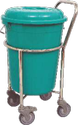 SOILED LINEN TROLLEY SS WITH PLASTIC BUCKET - 50-6000 EP