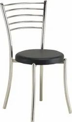 Stainless Steel ( Frame) Round Seat Dining Chair, For Restaurant