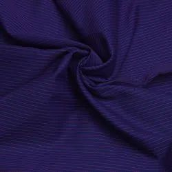 Navy Blue Stripes Polyester Cotton Fabric