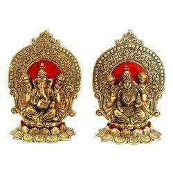 500 gm Metal Ganesh Statue Set