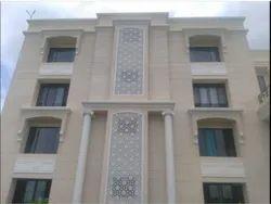 Glass Reinforced Concrete White Grc Jali Duct Covering, Alkali Resistant, 3-4 Kg Per Sq Ft