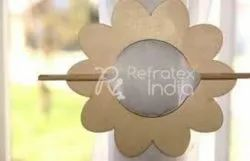 Diamond Flower Wooden Curtain Tieback