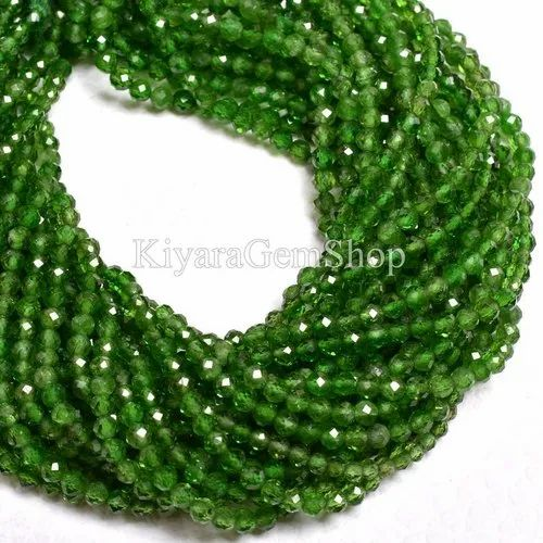 16 Inch Strand Finest Quality,NATURAL Shaded EMERALD Micro Faceted Rondelles 3.5-4.5mm aprx