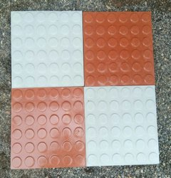 Terracotta Square Shaped Tiles, Thickness: 25 Mm, Size: Small