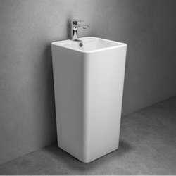 Ceramic Pedestal Free Standing Wash Basin, For Bathroom
