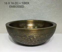 Table Top Bathroom Brass Wash Basin