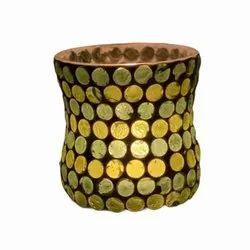 DC35043 Mosaic Glass Tealight Candle hodar