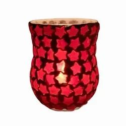 DC35039 Mosaic Glass Candle Holdar