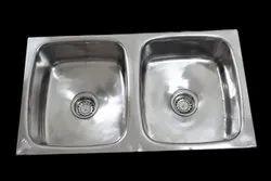 Kraus Glossy SS Double Bowl Kitchen Sink, Size: 37x18x9