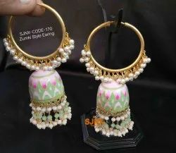 Copper Multicolor Designer Kundan Earrings for Women Jewellery