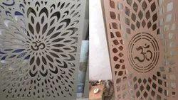 CNC Door Jali Cutting Job Work, Size: 2.5*2.5 Feet, Thickness: 3 Mm