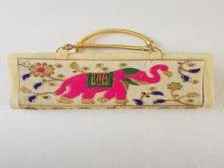 Cotton fabric ladies purse