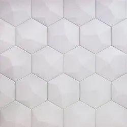 Ceramic White 3D Tiles, Thickness: 6 - 8 mm, Size: Medium