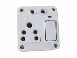 6 Amp. One Plus Two Combined Electrical Switch Board