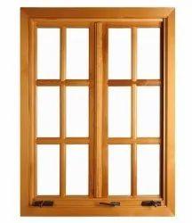 Brown Modern Wooden Designer Window