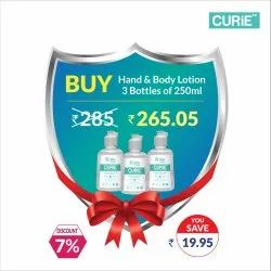 CURiE Hand And Body Lotion Pack Of 3