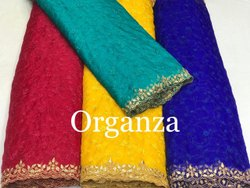 Organza Embroidered Fabric & Hand Work Border