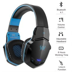 Black,Blue Gaming Bluetooth Headphone