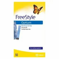 FreeStyle Optium Blood Glucose Test Strips, 50ct (Yellow)
