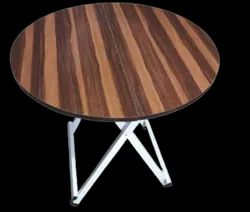 Brown Wooden Folding Round Table, Size: 32