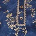 Janasya Women's Blue Rayon Kurta With Pant (SET121)