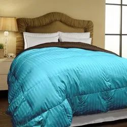 Micro Dyed Stripe Double Bed Reversible Comforter