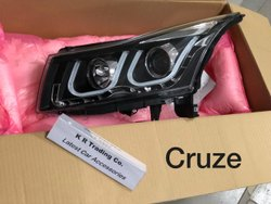 Plastic White Chevrolet Cruze Duel DRL Projector Headlamp