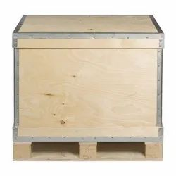 Rectangular 2 Way Industrial Hard Wood Packing Pallet Box, For Packaging, Capacity: 100 Kg