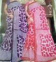 Party Wear Pink, Purple Designer Marble Printed Saree, 6 M (with Blouse Piece)