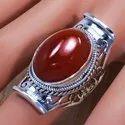 Fashion Jewelry Carnelian Gemstone 925 Sterling Silver Ring SJWR-703