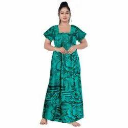 Ladies Cotton Printed Night Suits, Size: Upto 44 Xxl