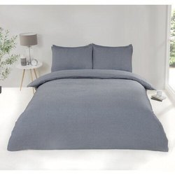 纯棉双灰色缎面床单,家居,酒店,尺寸:90 x 100英寸