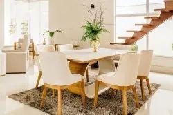 Vishwakarma Woodline White Dining Table Set, For Home, Size/dimension: 3x2 Feet
