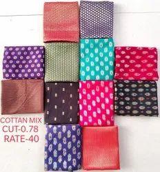 Cotton Mix Jacquard Blouse Fabric