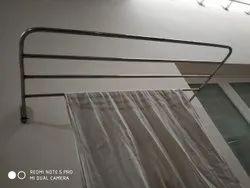 304 Free Bathroom Stainless Steel Towel Hanger, Size: Adjustable