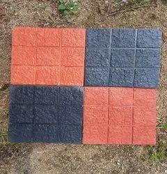 Dharani Designer Square Rock 9 Box Tile, For Flooring, Thickness: 25 Mm